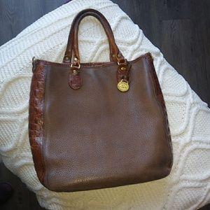 Vintage Leather Brahmin Bag Brown 1980